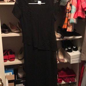 AGB petie black sequin short sleeves dress M